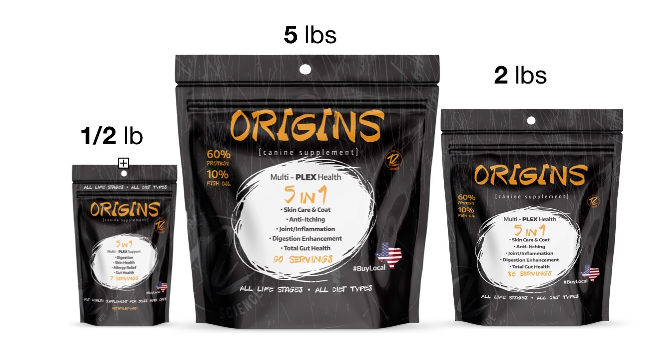 image of origings 5in1 supplement bag sizes.