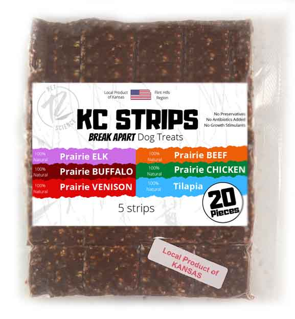 kc strips with all products label