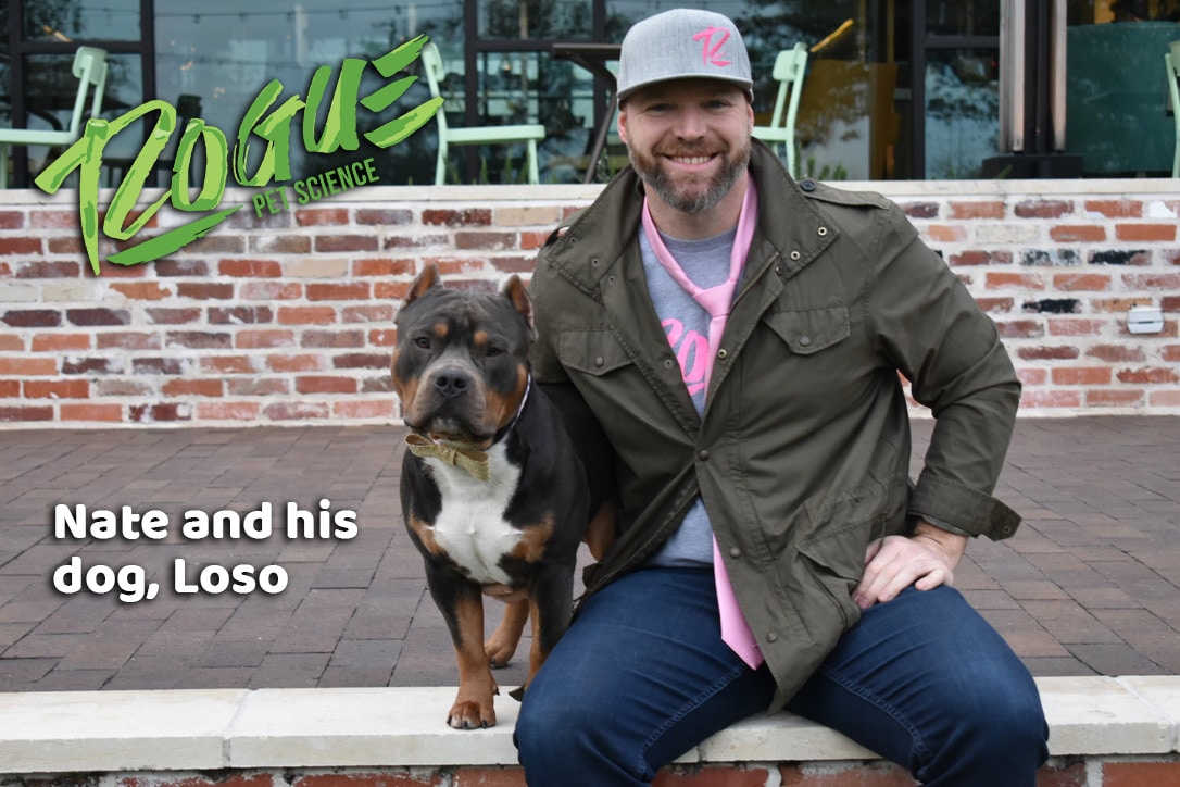 nate with his dog loso