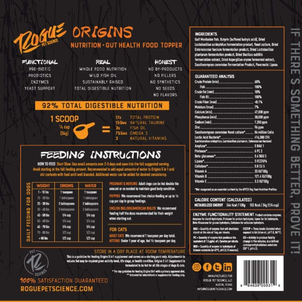 Back side of Origins 5in1 product package